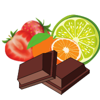 Ciocolata aromată / colorată dropsuri