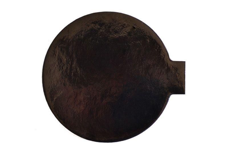 Platou auriu/negru rotund din carton D 4 cm 200 buc  3CA2300041N_BND
