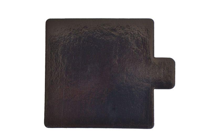 Platou auriu/negru dreptunghiular din carton 9,5x5,5 cm 200 buc  3CA2395551N_BND