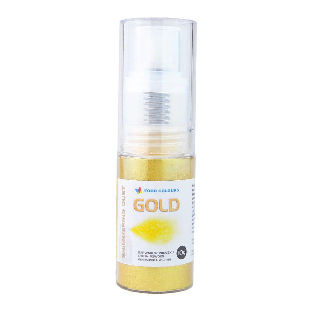 Colorant spray stralucitor alimentar pentru pompa AURIU 10g  WS-P-185 FC