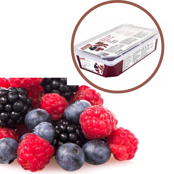 Piure de mix de fructe rosii congelat 1kg PUML03 SCD