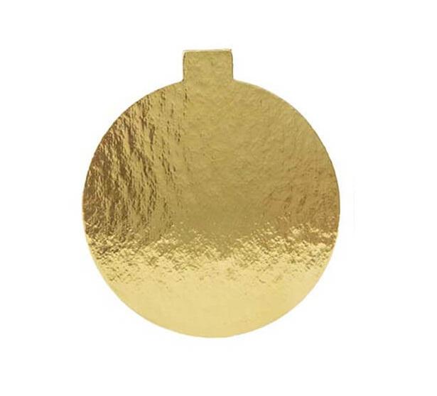 Platou auriu/negru oval din carton 8x6 cm 3CA2380601N_BND