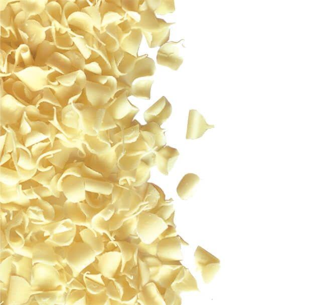 Fulgi din ciocolata Blossoms White 100 gr. GPR