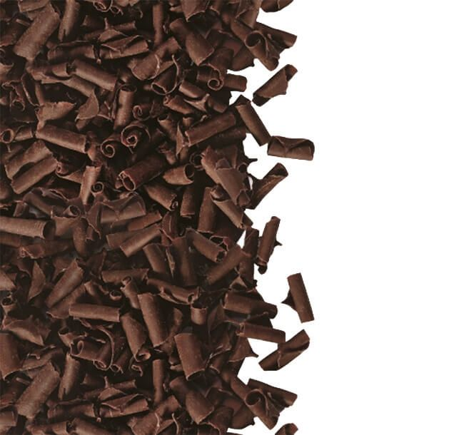 Fulgi din ciocolata Blossoms Dark 100 gr. GPR
