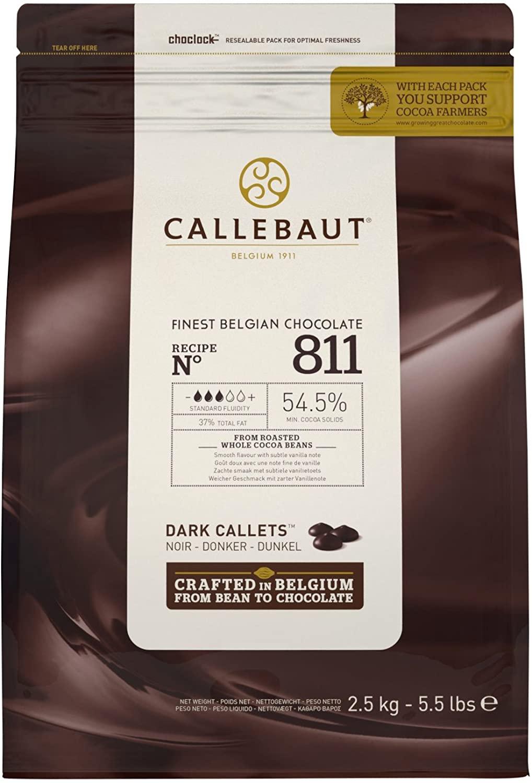 Pastile de ciocolata neagra 54.5%  2,5 kg  811NV-U71/811-E4-U71 BARRY