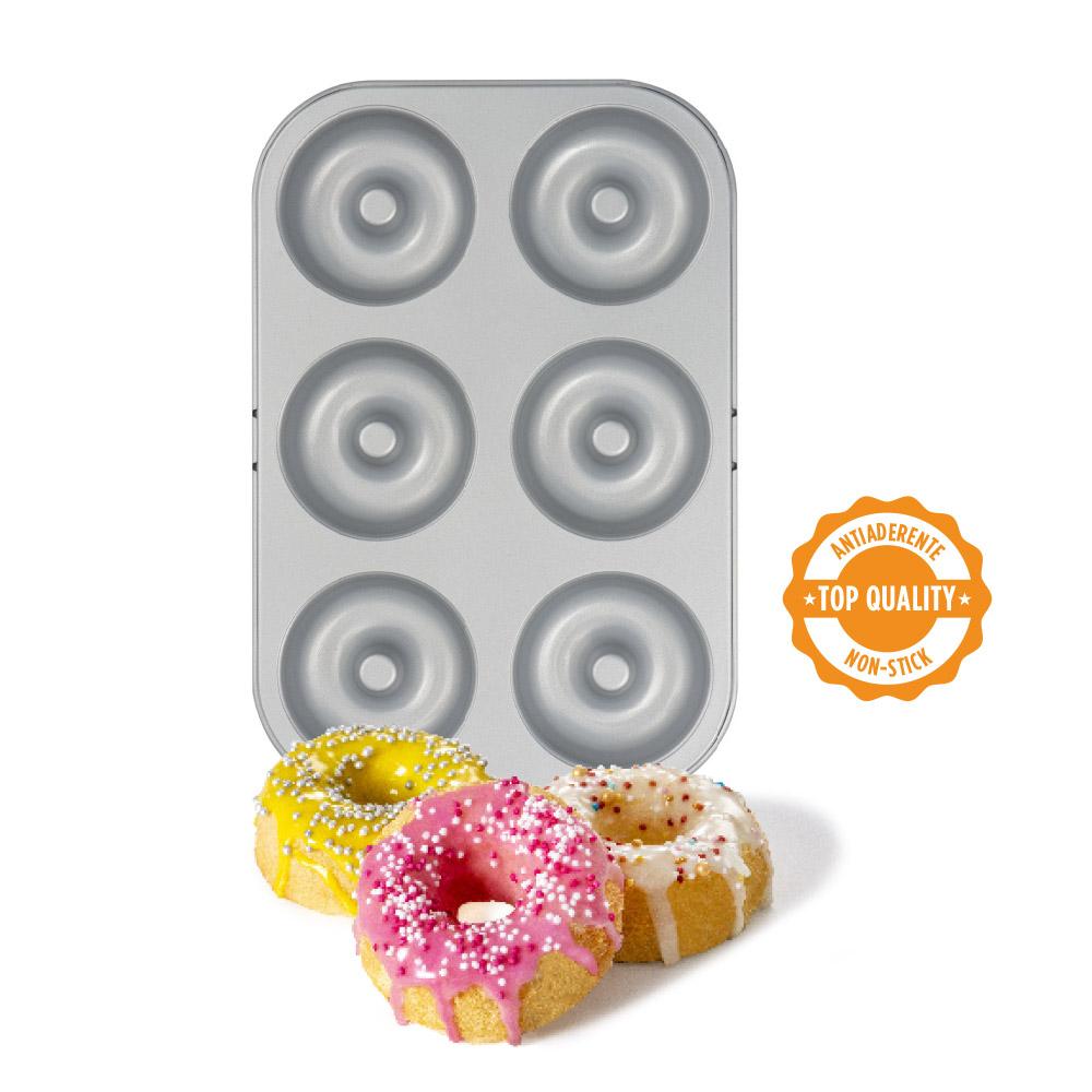 Non-stick 6 cavity doughnut pan D7,5 cm 0070036 DER