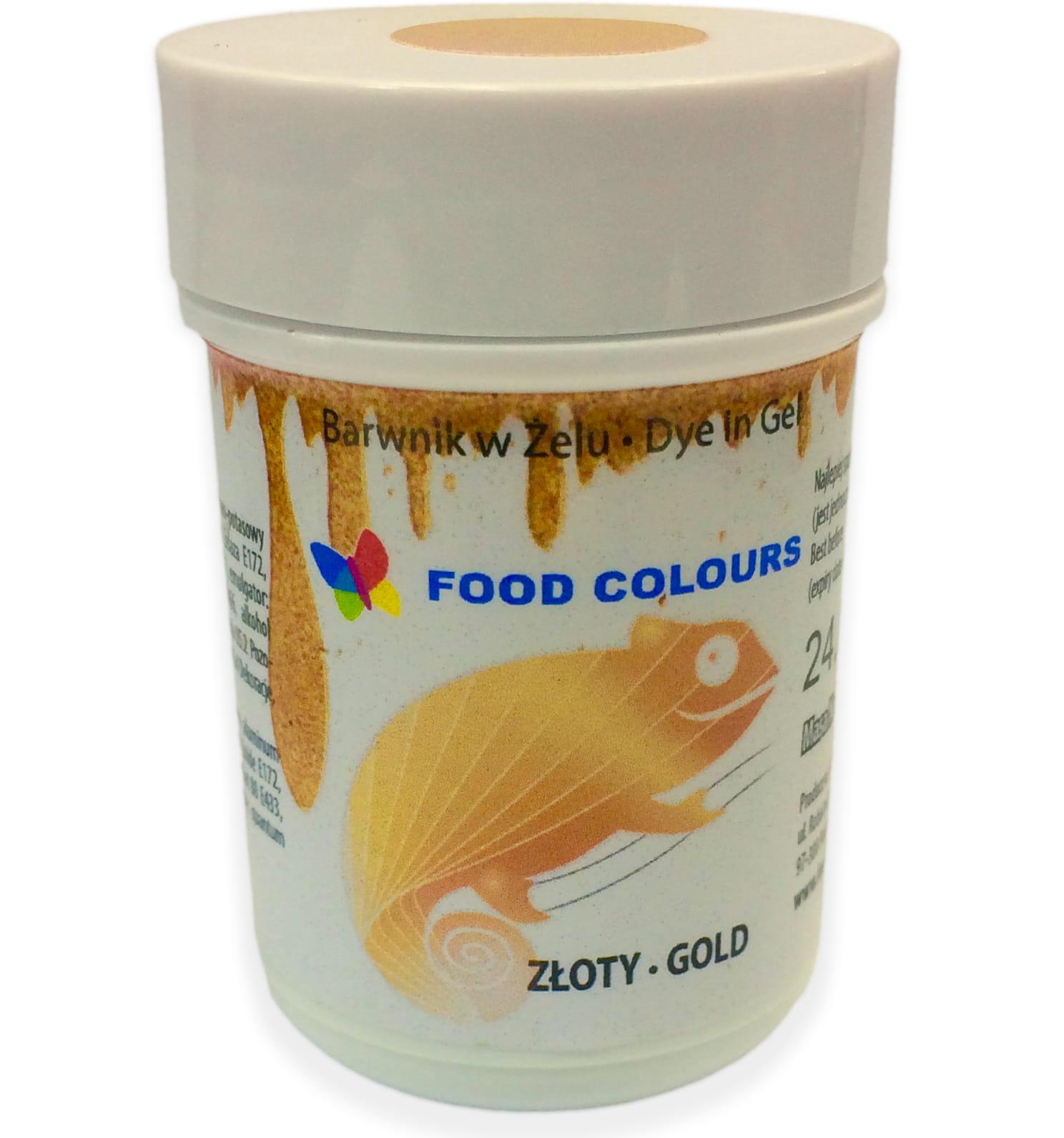 Colorant alimentar in gel aur 35g WSG-090 FC