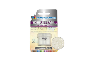 Colorant pudra perlat solubil – culoare alb stralucitor 4g P104  FC