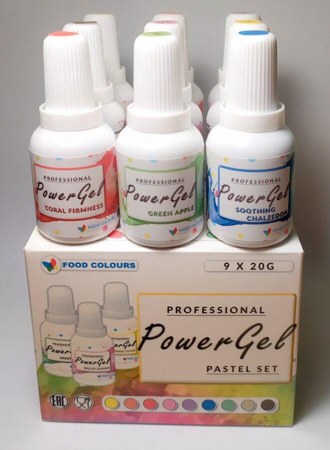 Set de coloranti  POWER GEL alimentari  PG-9-SET FC