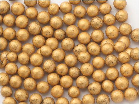 Perle zahar auriu (old gold) sidefat d5 90g 71704 UKR