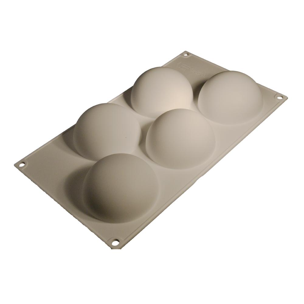 Forma Silicon semisfera 30x20cm (5 cavitati) 52001 CSL
