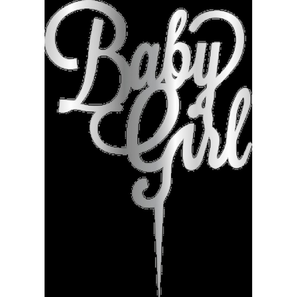 Topper - Baby Girl/argintiu 165*165mm 14046 CSL