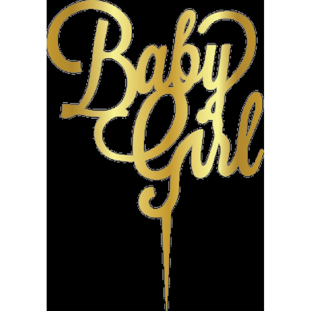 Topper - Baby Girl/aur 165*165mm 14010 CSL
