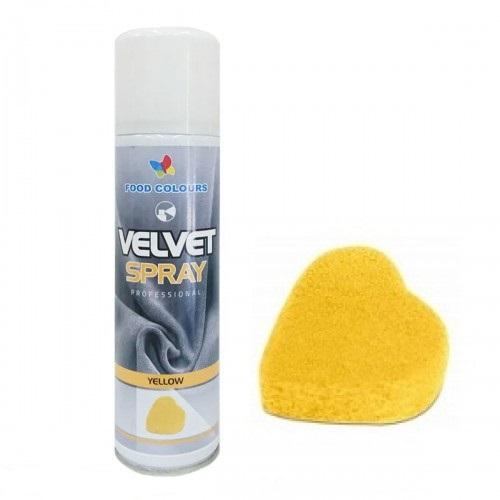 Colorant spray alimentar 250ml  VELVET Galben V01 FC