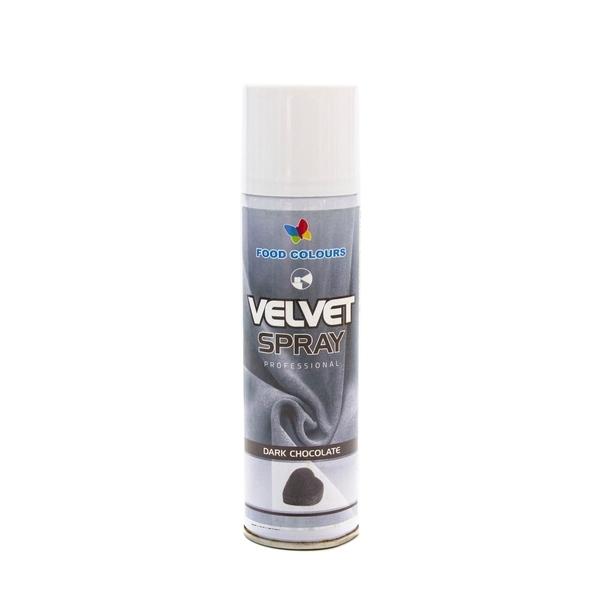 Colorant spray alimentar 250ml VELVET Ciocolata neagra V40 FC