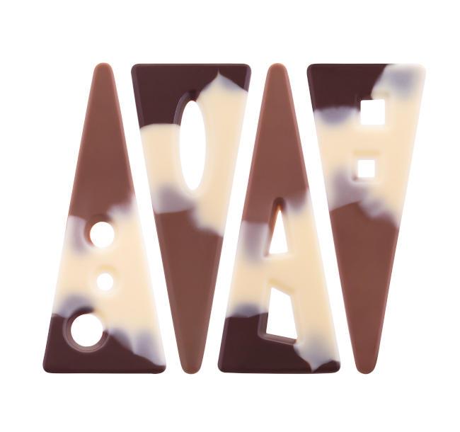 Decoratiuni din ciocolata Alps Triangle 339781 0,09 kg BARB