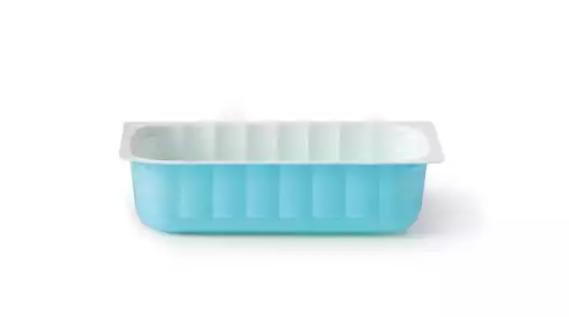 Container rezistent termic inghetata bicolor alb/albastru 500g fara capac 043002050 043/5/B  ACS