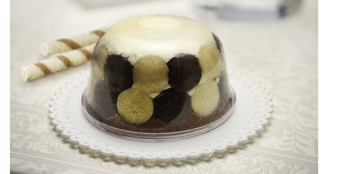 Cutie plastic deserturi cu capac SMOOTH ZUCCOTTO  103001040/B 103/4 ACS
