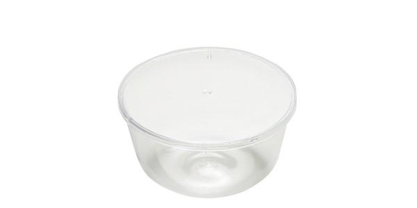 Cutie plastic deserturi cu capac 200 gr SMOOTH ZUCCOTTO 103001020/B 103/2 ACS