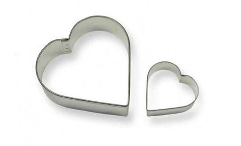 Forma din inox pentru icing SC606-inima set 2 buc