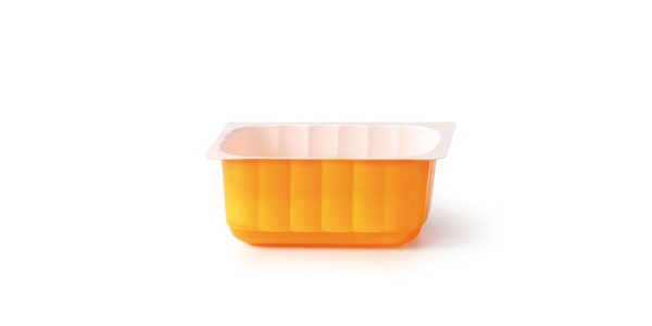 Casoleta termorezistenta 350g culoare portocaliu/alb 043002010043/1 ALC