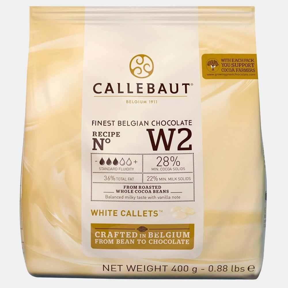 Ciocolata alba 28% unt de cacao W2 0.4kg Callebaut