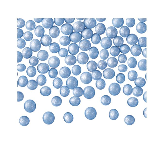 Perle albastre din zahar 100 gr. GPR