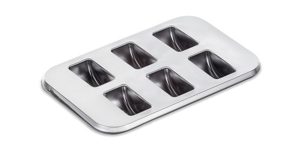Cutie pentru macarons 6 buc argintiu  fara capac 50buc/set 023109060 023/6 ACS