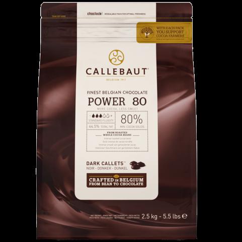 Ciocolata neagra POWER80  80% 2,5 kg 80-20-44-E4-U71 BARRY