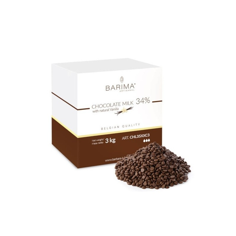 Ciocolata cu lapte 34% 3kg CHL35XXC3 BARB