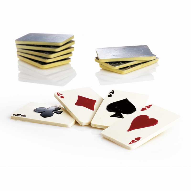 Decor Carti de joc - Matrita Plastic Ciocolata - Kit 4 Buc, 20PC01 MARTE