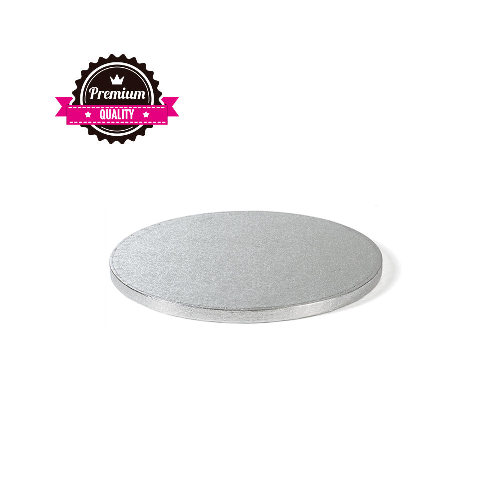 Platformă tort rotundă argintie 30 cm SMT