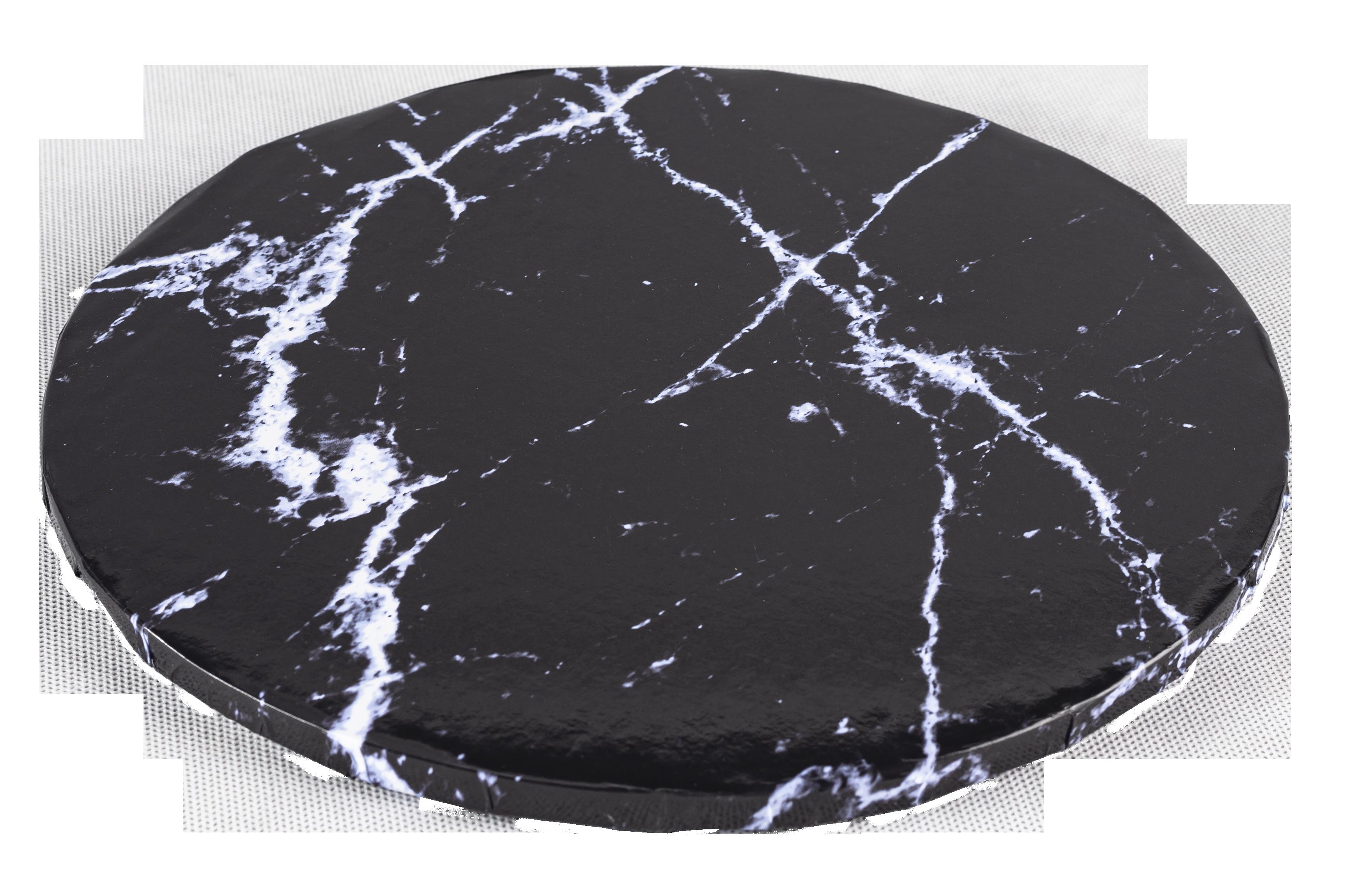 Platformă tort rotundă marmură închisă 25 cm SMT