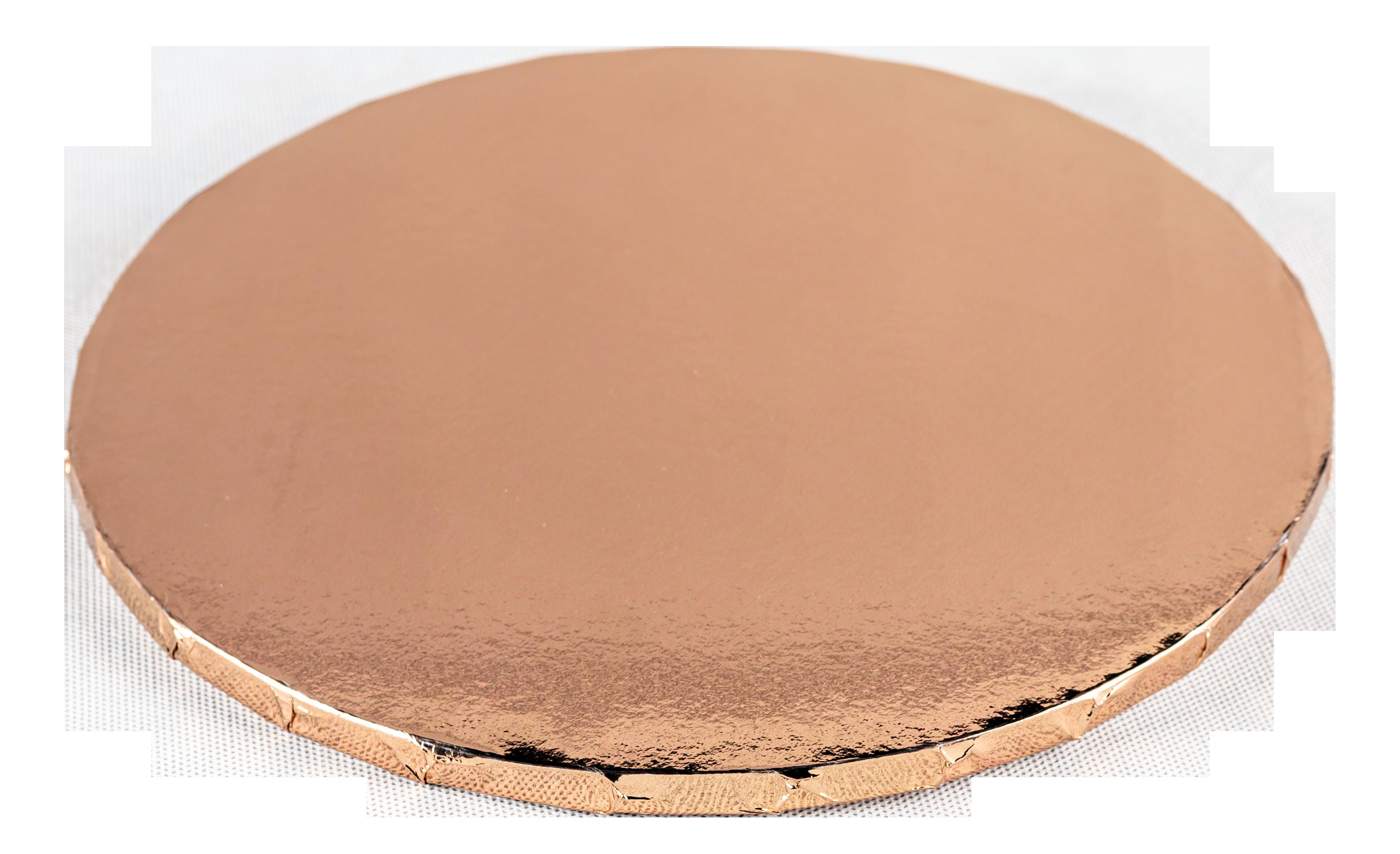 Platformă tort rotundă aur roz 25 cm SMT