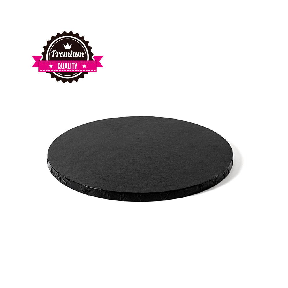 Platformă tort rotundă neagră 20 cm SMT