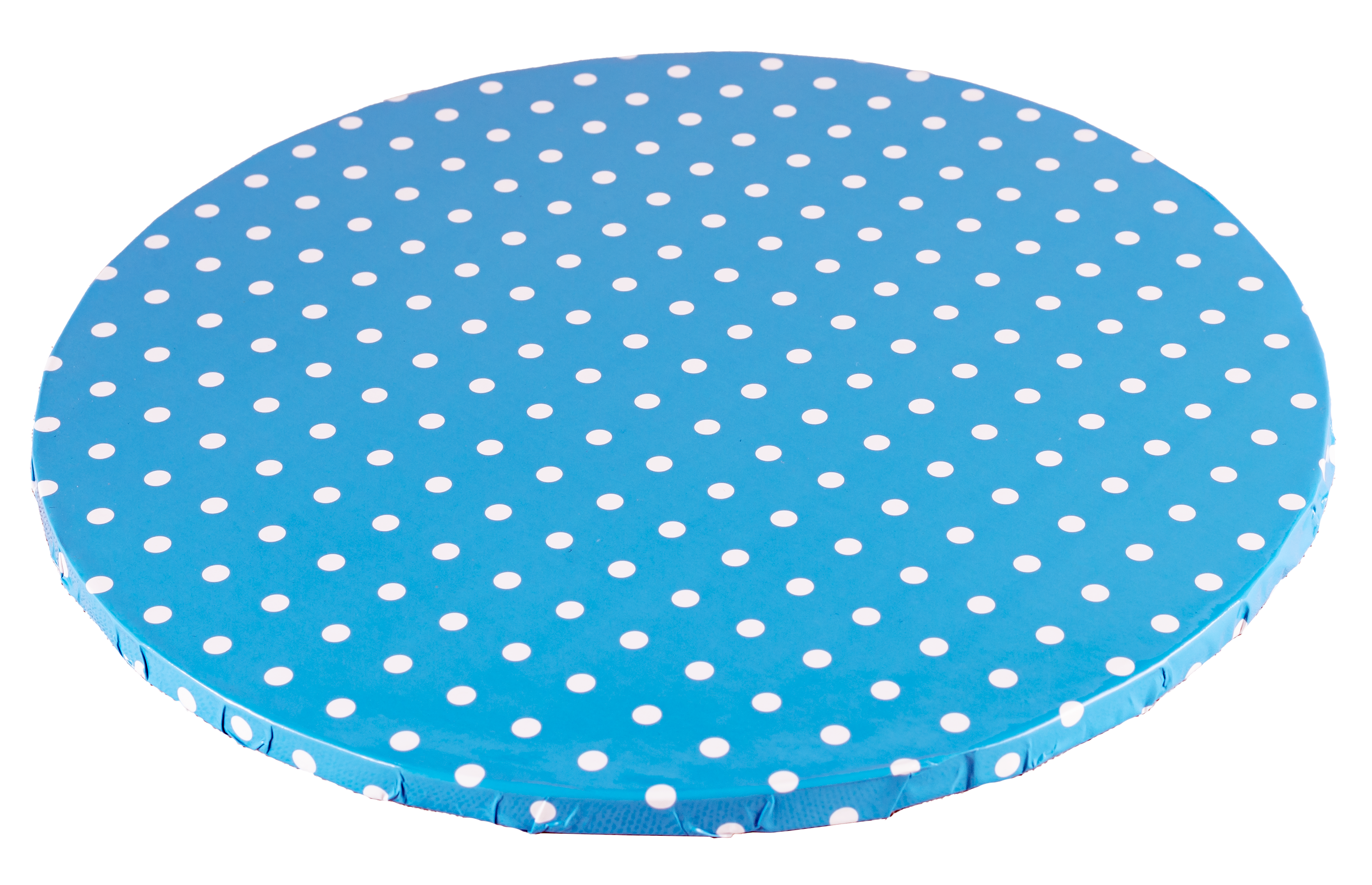 Platformă tort rotundă albastră cu buline 30 cm SMT
