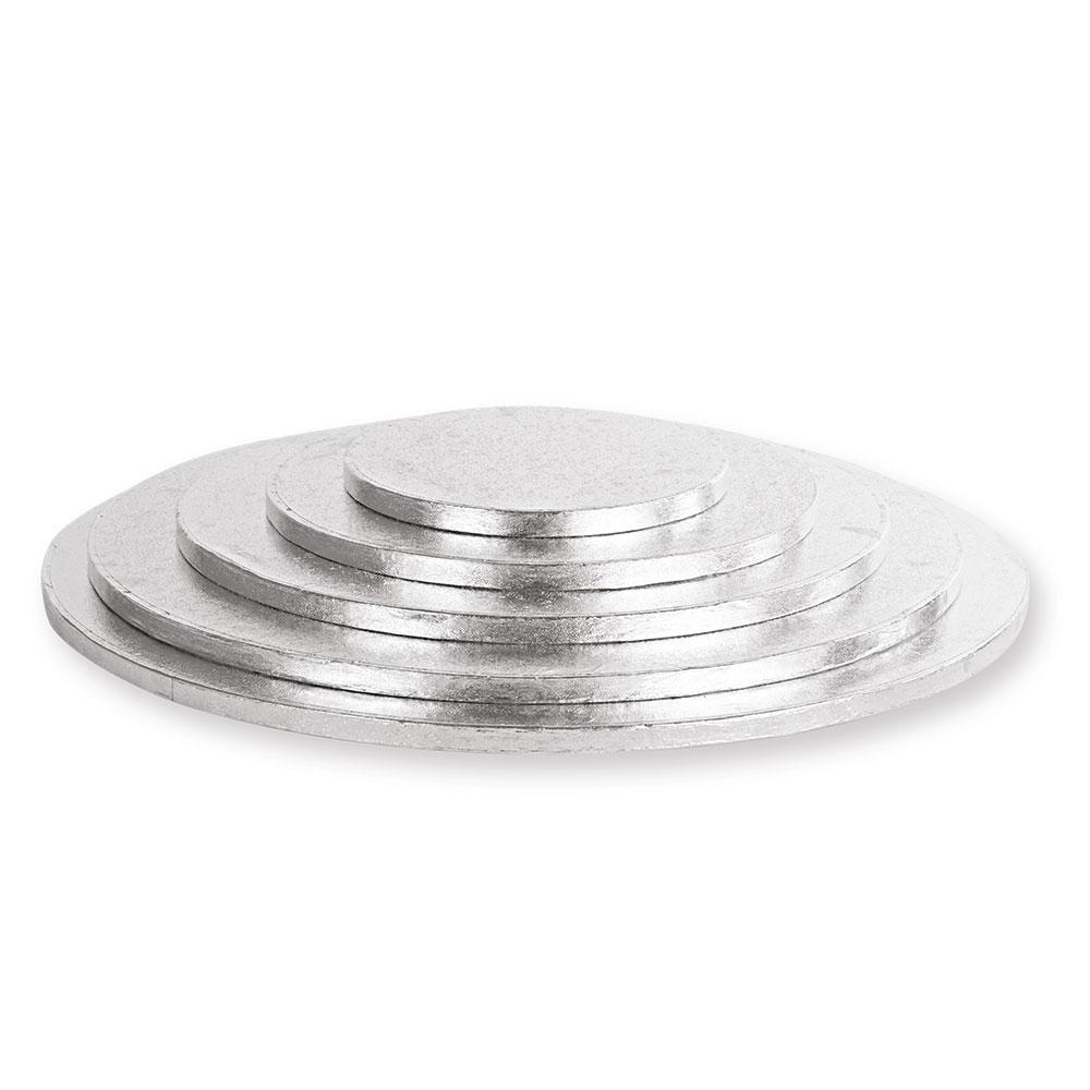 Platformă tort rotundă argintie 25 cm SMT