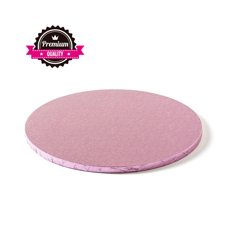 Platformă tort rotundă roză pală 35 cm SMT