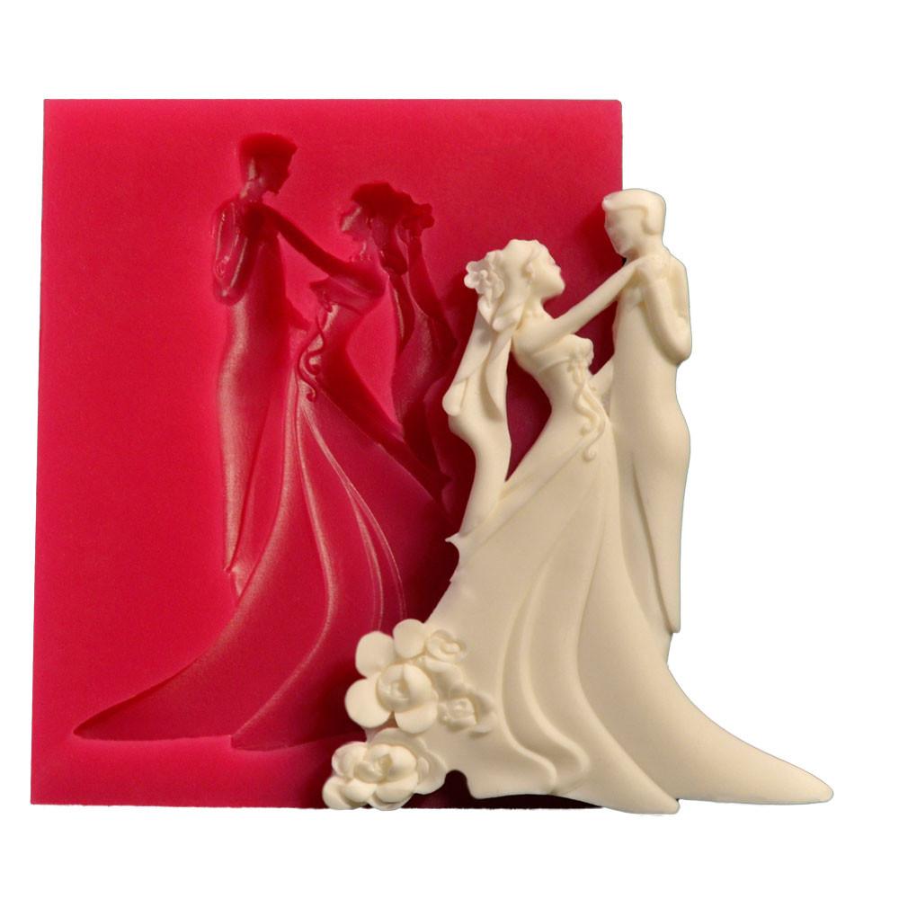 Forma din silicon Bride - Groom 75x100 mm 32972 CSL