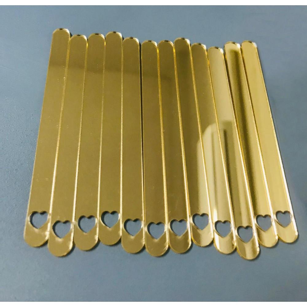 Set palete din acril aurii (20 buc) 15108 CSL