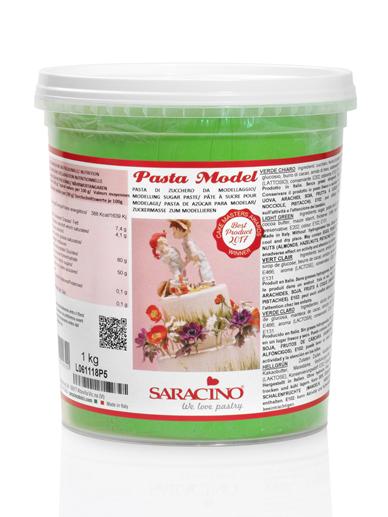 Pasta de modelaj verde deschis 1 kg DEC030K1_SARACINO