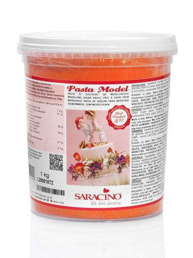 Pasta de modelaj portocalie 1 kg DEC029K1_SARACINO