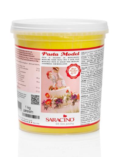 Pasta de modelaj galbenă 1 kg DEC021K1 SARACINO