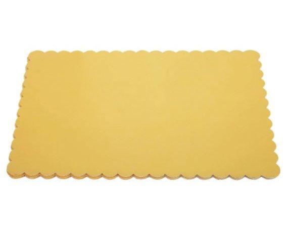 Platou auriu dreptunghiular din carton ref. 36x47 cm 3CA2308802_BND