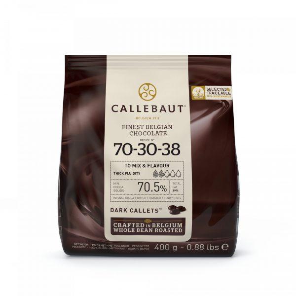 Ciocolata neagra 70.5% cacao 70-30-38 0.4kg Callebaut