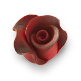 Trandafir din zahar mediu visiniu umbrit 051307/c PJT, set 20 buc