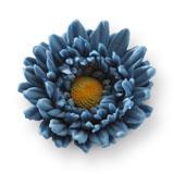Gerbera din zahar albastru marin 052221 PJT set 12 buc