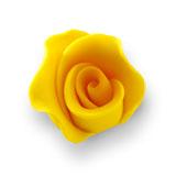 Trandafir din zahar mediu galben 051301 PJT, set 20 buc