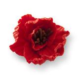 Hibiscus din zahar rosu  052102 PJT set 4 buc