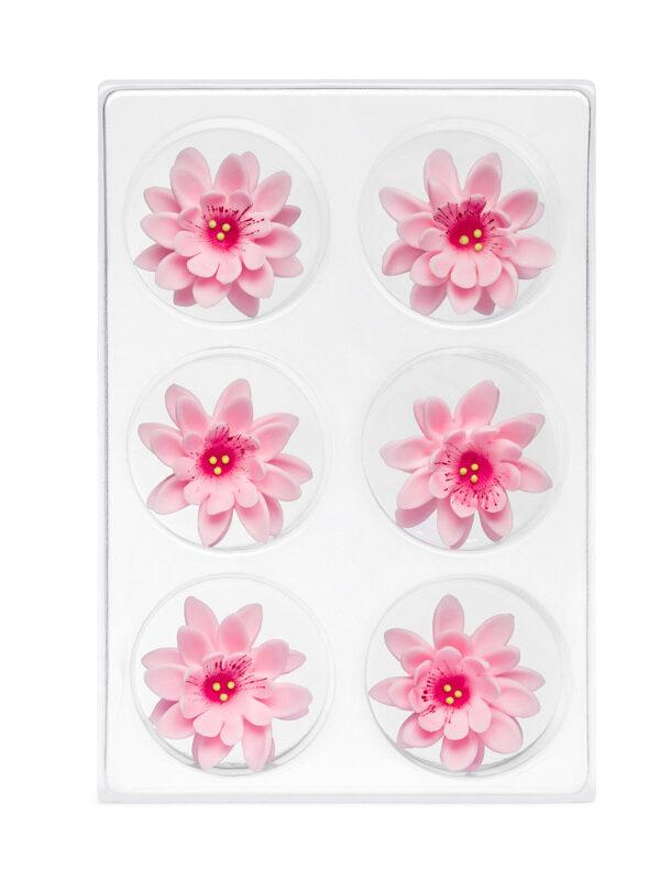 Floare de colt din zahar roza C-2003 PJT, 35 mm set 6 buc